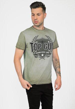 EINZIGARTIGEM TG20212104 - T-shirt print - oliv