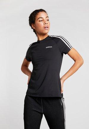 3S TEE - T-shirt z nadrukiem - black
