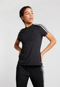 adidas Performance - 3S TEE - T-shirt imprimé - black - 0