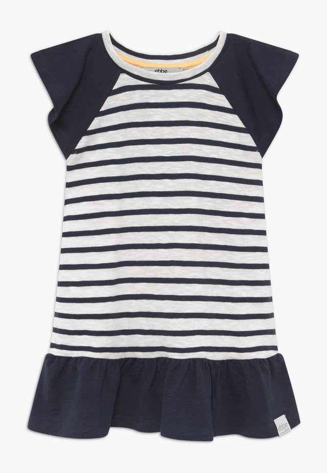 BELLE - Jersey dress - off-white/dark-navy