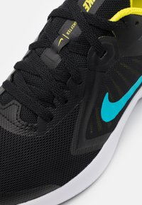 Nike Performance - DOWNSHIFTER - Neutral running shoes - black/chlorine blue/high voltage/dark smoke grey