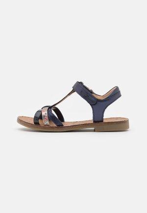 HAPPY SALOME - Sandals - navy/bronze