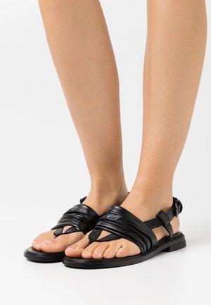 GRAM - T-bar sandals - nero