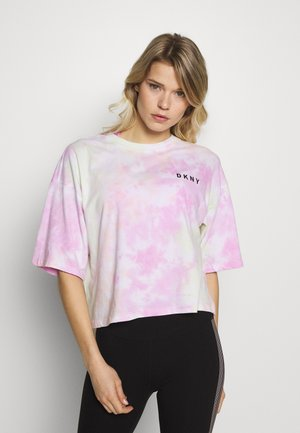 MULTI TIE DYESHORT SLEEVE CREW NECK TEE - T-shirt z nadrukiem - multi-coloured