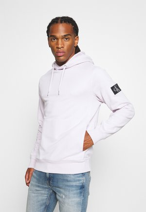 MONOGRAM BADGE HOODIE - Sweat à capuche - orchid hush