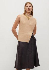 Mango - CHOCOLAT - A-line skirt - marron - 3