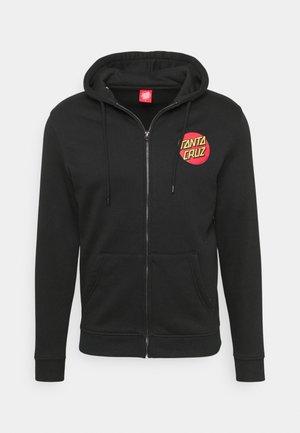 UNISEX CLASSIC DOT ZIP HOOD - Zip-up sweatshirt - black