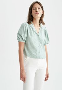DeFacto - Button-down blouse - turquoise - 3