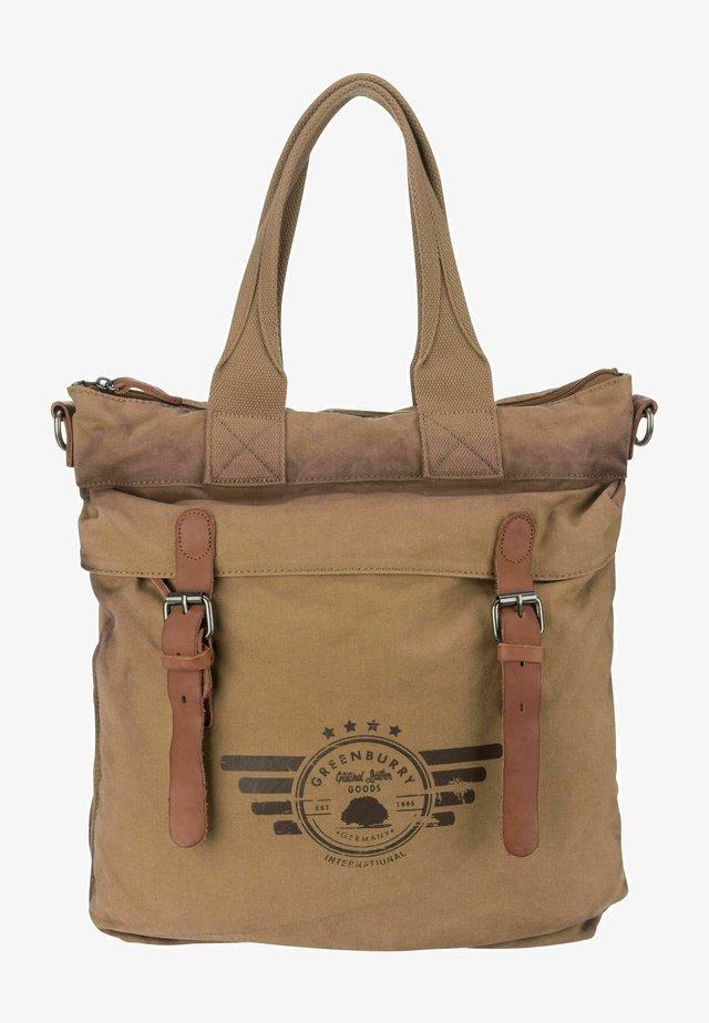 VINTAGE AVIATOR - Shopping bag - camel