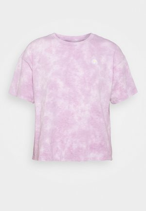TIE DYE SPACE EMBROIDERY TOUR TEE - Print T-shirt - purple