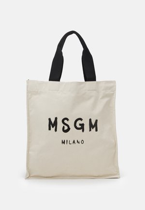 SHOPPING PAINT BRUSHED LOGO - Tote bag - beige