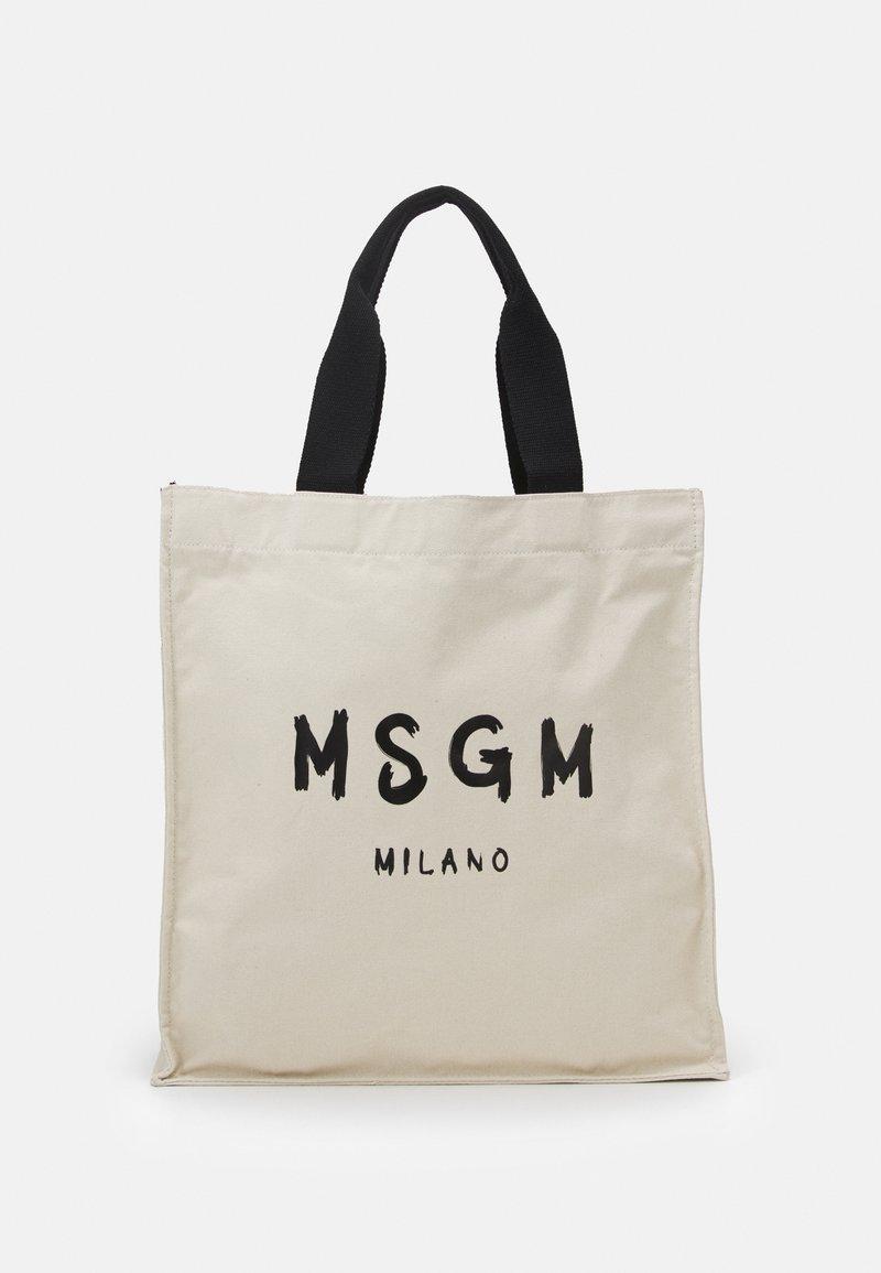 MSGM - SHOPPING PAINT BRUSHED LOGO - Cabas - beige