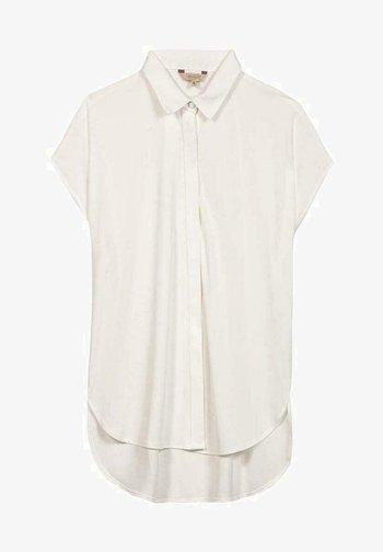 SVANIA MIT KURZEN ÄRMELN - Button-down blouse - white