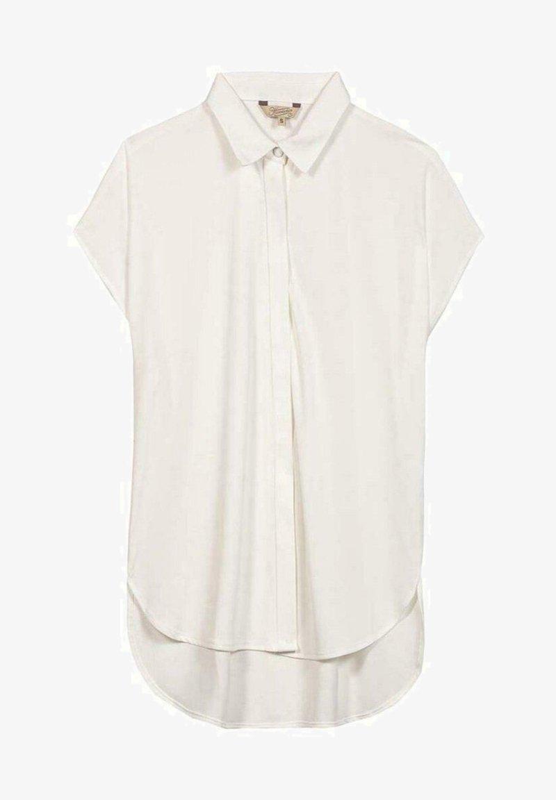 Herrlicher - SVANIA MIT KURZEN ÄRMELN - Button-down blouse - white