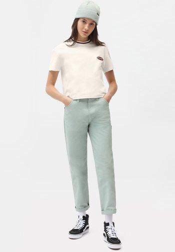 SAX TEE SS W - Print T-shirt - ecru