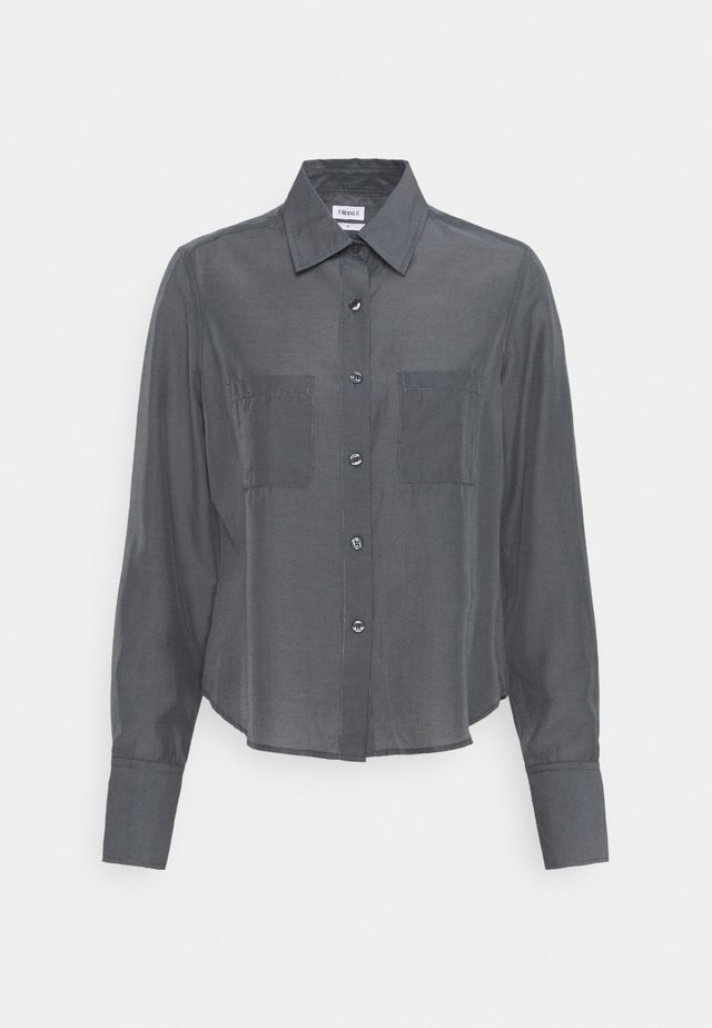 HELENA - Button-down blouse - metal