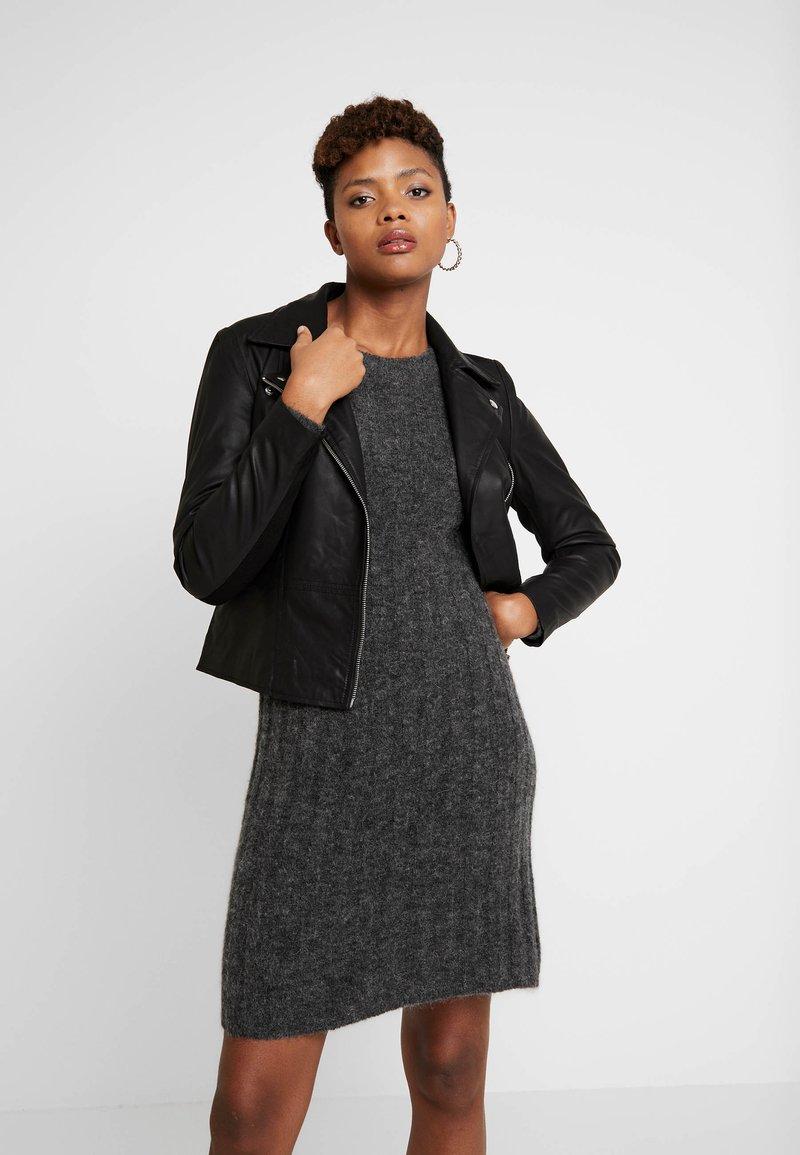 YAS - YASSOPHIE JACKET - Leather jacket - black