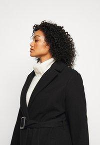 Dorothy Perkins Curve - CURVE BELTED WRAP COAT - Abrigo - black - 4