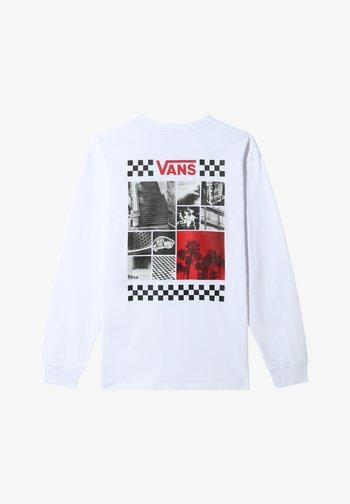 MN 66 VIBES LS - Print T-shirt - white