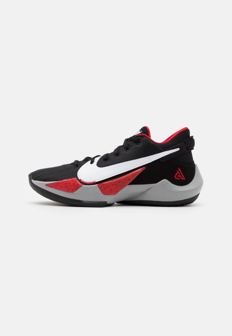 Nike Performance - ZOOM FREAK 2 - Scarpe da basket - black/white/university red
