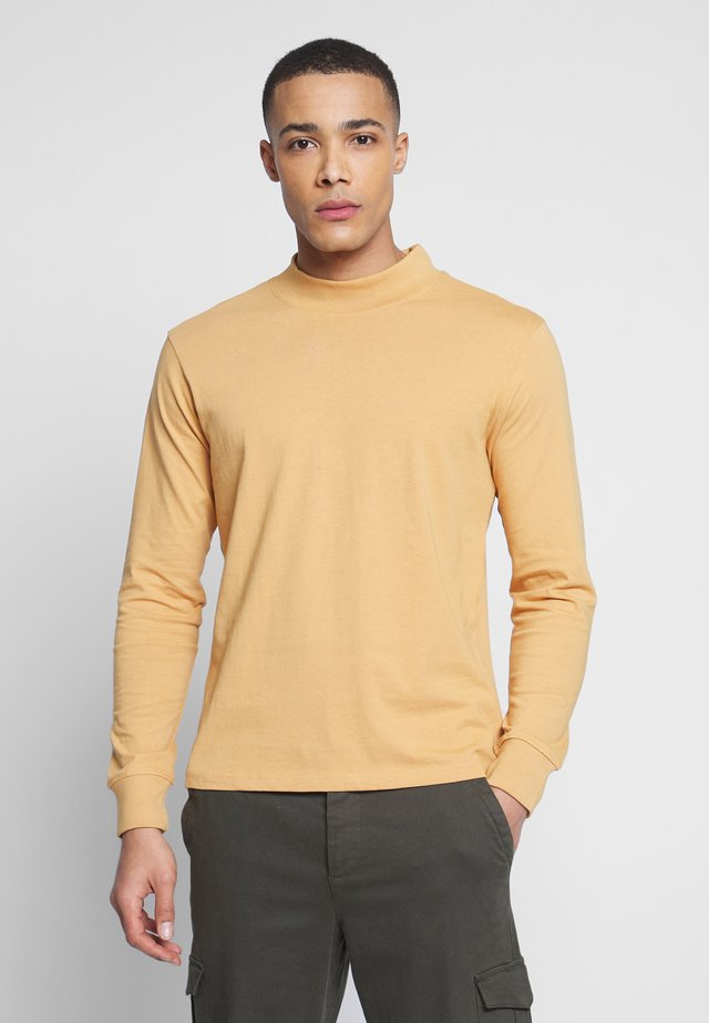 LONG SLEEVE BOXY FIT - T-shirt con stampa - tan