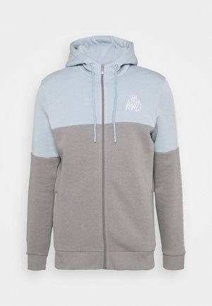 FARNELL ZIP THROUGH HOOD - Zip-up sweatshirt - sharkskin/sky blue/optic white