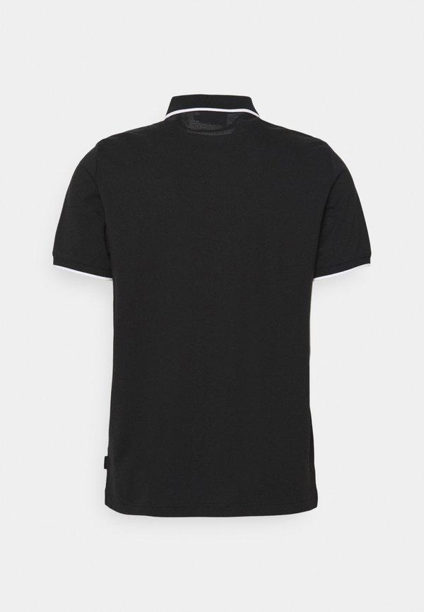 Calvin Klein BOLD STRIPE LOGO - Koszulka polo - black/czarny Odzież Męska JFZS
