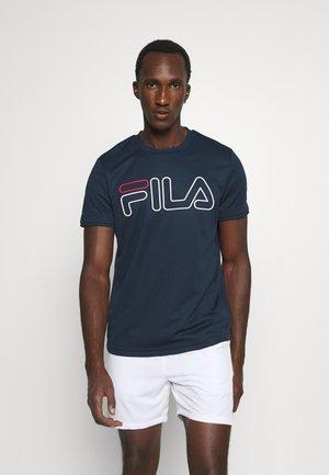 TILL - T-shirt med print - peacoat blue