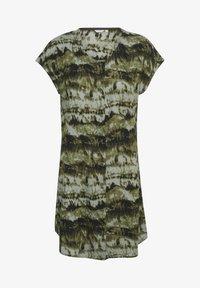 Kaffe - BPSUSANA  - Tunic - green tie dyed print - 4