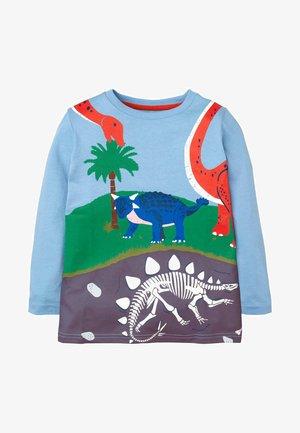 MIT PRÄHISTORISCHEM MOTIV - Long sleeved top - eisblau, dinosaurier