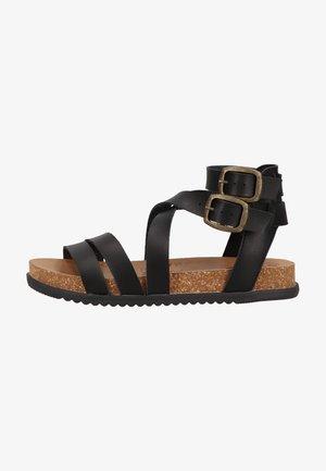Platform sandals - black dyecut