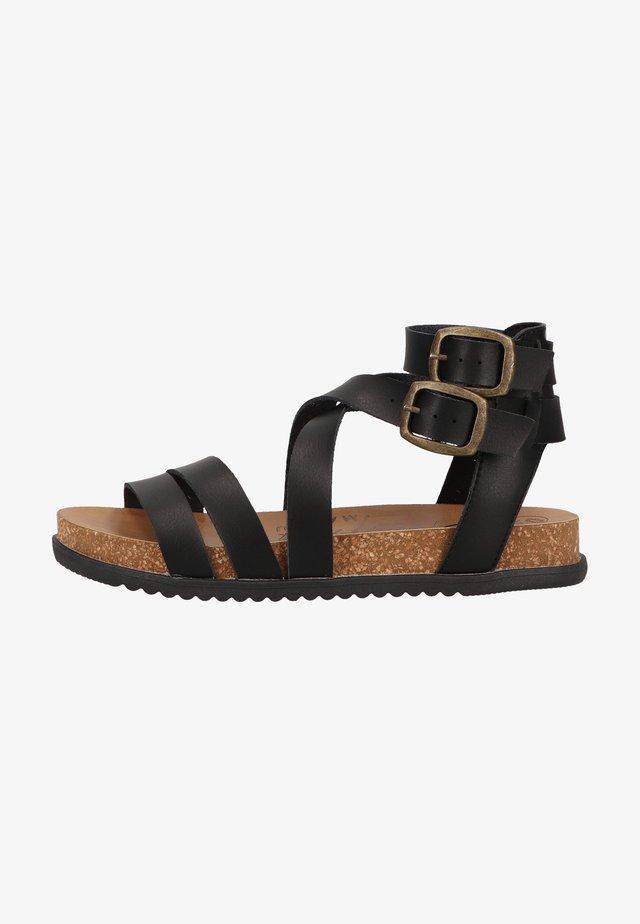 Sandales à plateforme - black dyecut