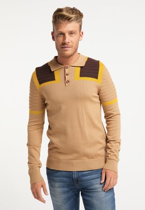 Polo shirt - multicolor kamel