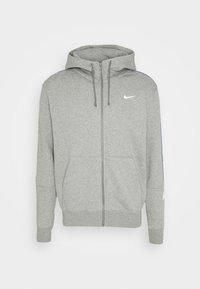 Nike Sportswear - REPEAT HOODIE - Huvtröja med dragkedja - dark grey heather/white - 0