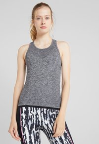 Even&Odd active - SEAMLESS VEST - Top - grey melange - 0