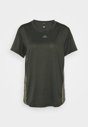 3 STRIPE TEE - Camiseta de deporte - khaki