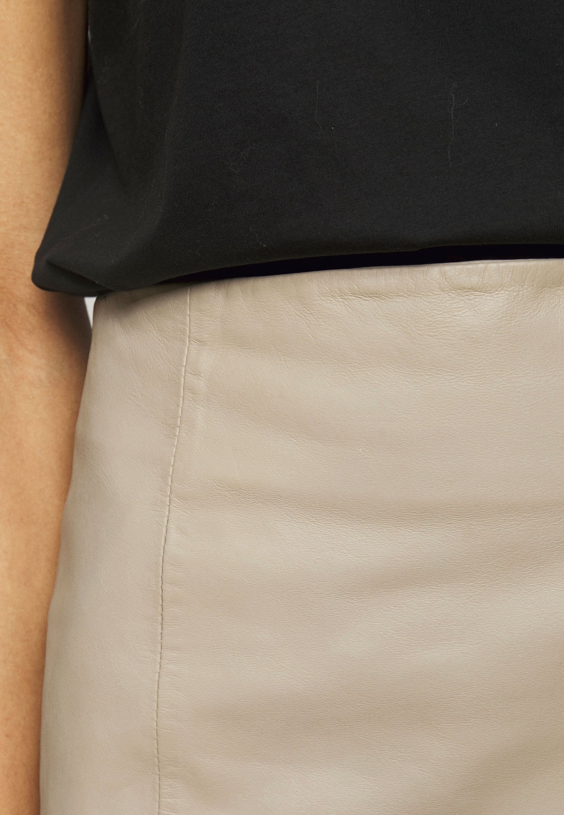 Women ELECTRA - Leather skirt