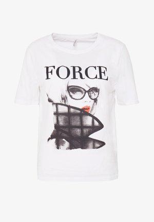 ONLMODE BOXY - T-shirt print - bright white