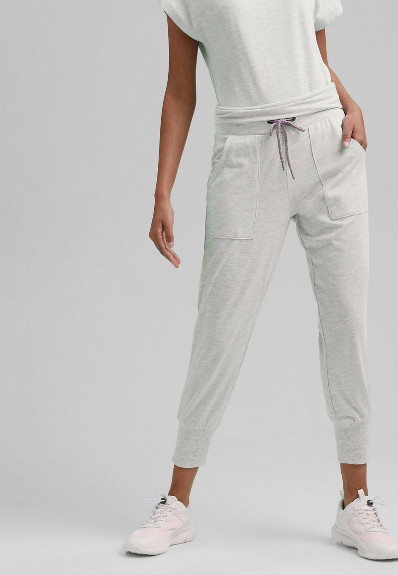 Esprit Sports - FASHION - Tracksuit bottoms - light grey