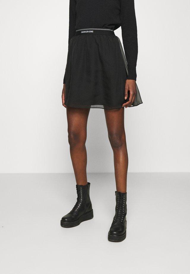 LOGO WAISTBAND SKIRT - Áčková sukně - black