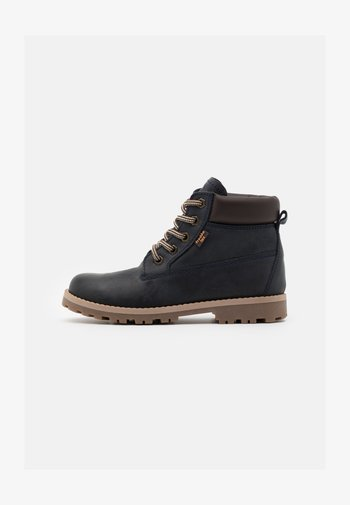 MONO LACES WARM TEX MEDIUM FIT UNISEX - Lace-up ankle boots - dark blue