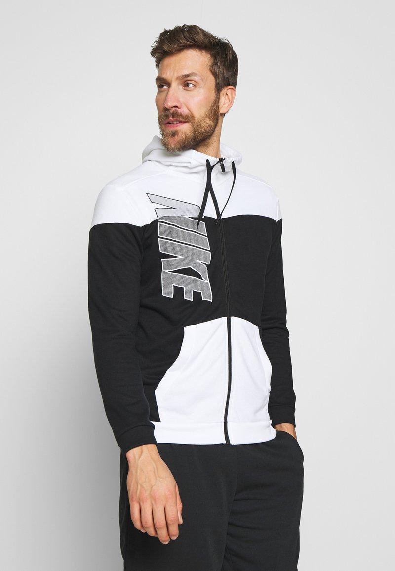 Nike Performance - Zip-up hoodie - black/white