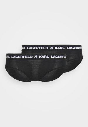 LOGO HIPSTER 2 PACK - Briefs - black
