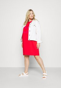 adidas Originals - TEE DRESS - Jersey dress - vivid red - 1