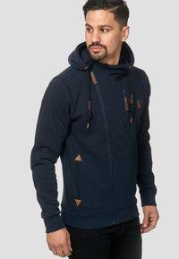INDICODE JEANS - ELM - Zip-up hoodie - navy - 4