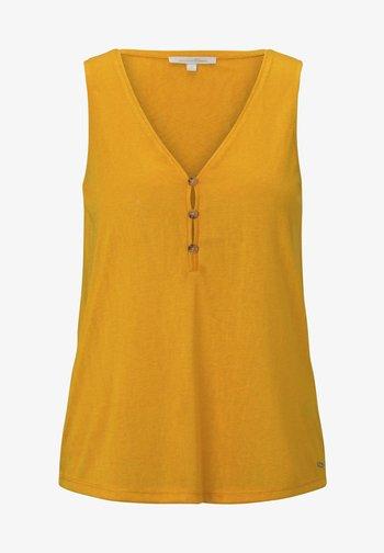 MIT KNÖPFEN - Pusero - orange yellow