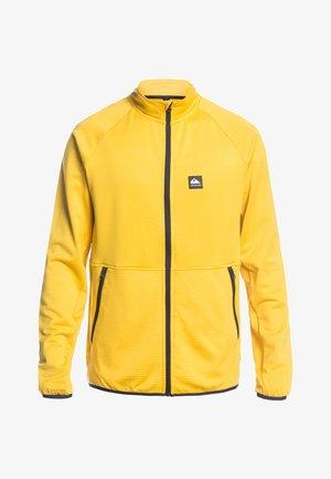 MIT REISSVERSCHLUS - Fleece jacket - sulphur