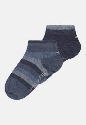 BASIC STRIPE QUARTER 4 PACK UNISEX - Socks - dark blue/light blue