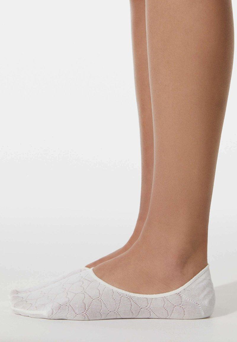 OYSHO - 3 PAIRS HEART - Trainer socks - light pink