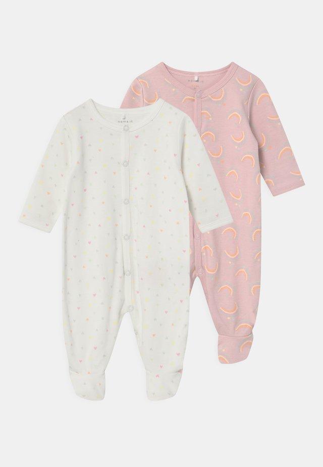 NBFFUTUNA 2 PACK - Sleep suit - snow white